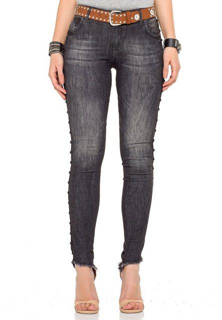 Hosen - Cipo Baxx Bequeme Jeans in coolem Design › schwarz  - Onlineshop OTTO