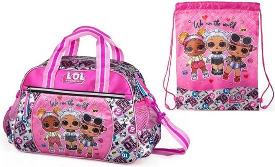LOL Surprise Sporttasche »LOL Surprise - Sporttasche und Turnbeutel« (Reißverschluss, Mädchen), Geringes-Gewicht