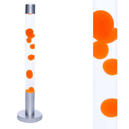 Licht-Erlebnisse Lavalampe »ALAN XXL Lavalampe Orange Zylinder Stehleuchte Wohnzimmer Jugendzimmer Lampe«