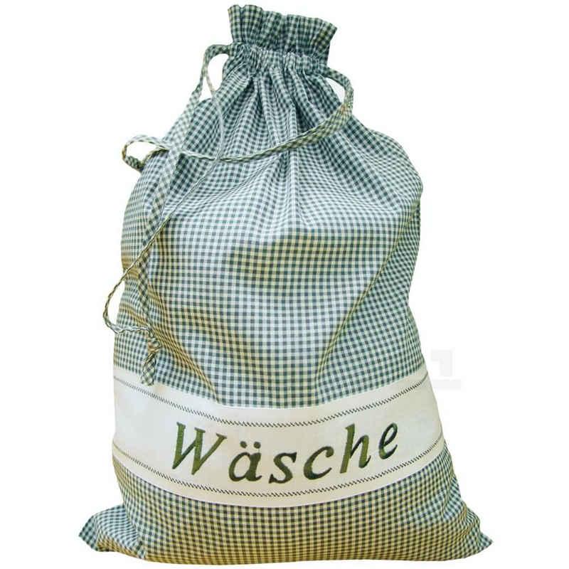 matches21 HOME & HOBBY Wäschesack »Wäschebeutel grün weiß kariert 45x65 cm« (1 Stück)
