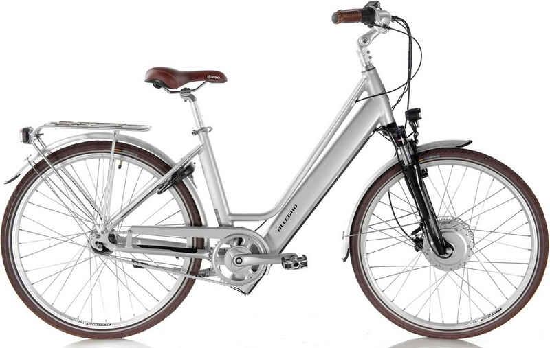 ALLEGRO E-Bike »Invisible City Plus Silver«, 7 Gang Shimano Nexus Schaltwerk, Nabenschaltung, Frontmotor 250 W