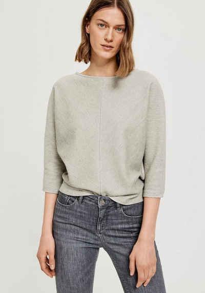 OPUS Sweatshirt »Glovan« mit V-förmiger Struktur