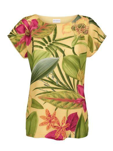 Amy Vermont Shirt Vorderteil aus Webware mit floralem Druck