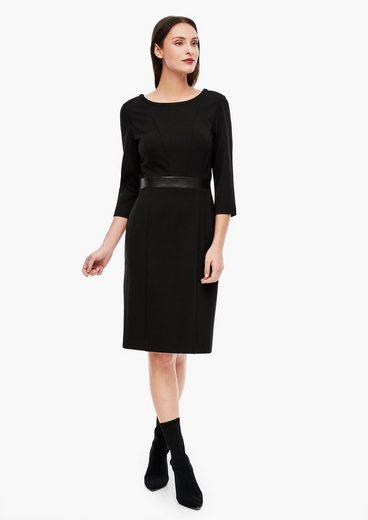 s.Oliver BLACK LABEL Minikleid »Interlock-Kleid mit Taillenblende« Blende