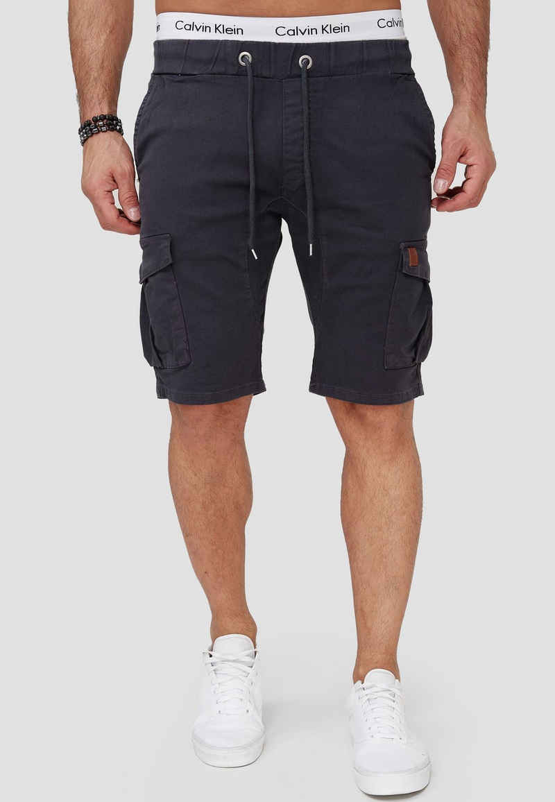 OneRedox Shorts »SH-3362« (Kurze Hose Bermudas Sweatpants, 1-tlg., im modischem Design) Fitness Freizeit Casual