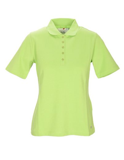 Clarina Poloshirt »Pima Cotton« mit Metall-Logo unten am Saum