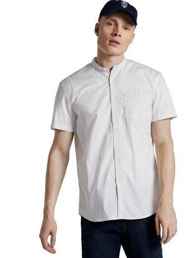 TOM TAILOR Denim Kurzarmhemd mit verschließbarer Brusttasche