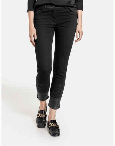 GERRY WEBER 7/8-Jeans »Jeans mit Glanzfinish am Saum« (1-tlg) 5-Pocket