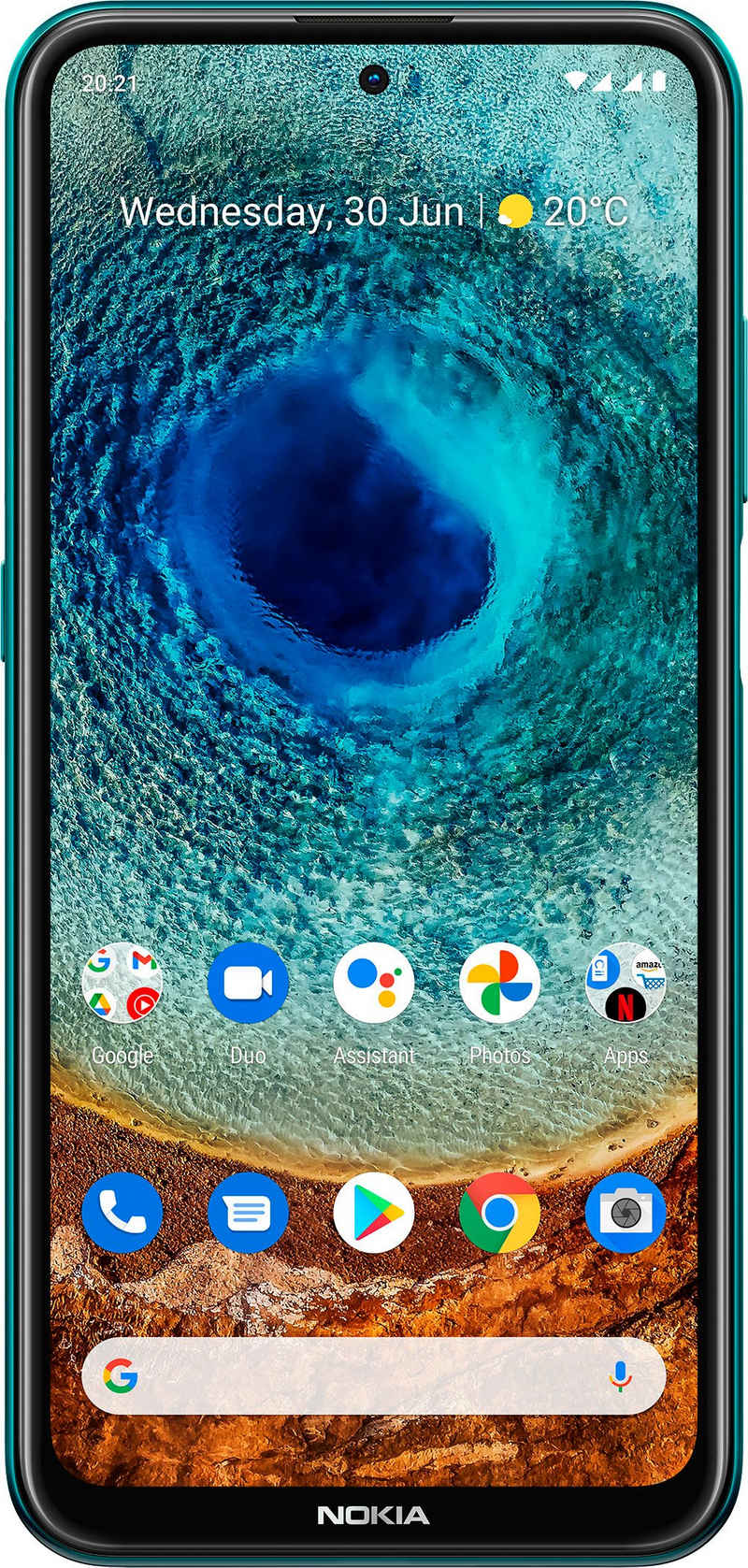 Nokia X10,4+128 GB, Dual SIM Smartphone (16,94 cm/6,67 Zoll, 128 GB Speicherplatz, 48 MP Kamera, 3 Jahre Herstellergarantie)