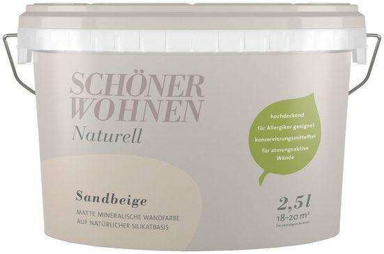 SCHÖNER WOHNEN FARBE Wand- und Deckenfarbe »Naturell Sandbeige«, 2,5 l