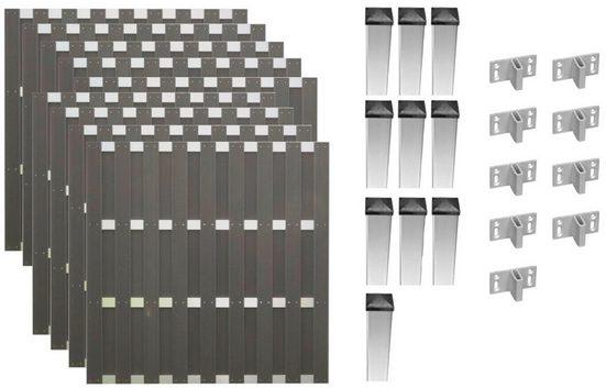 T&J Bohlenzaun »Jackson 7«, (Set), 9 Elemente, LxH: 1690x180 cm
