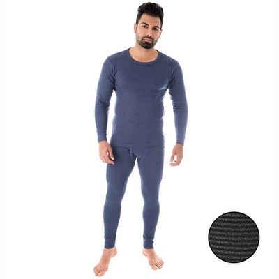 Black Snake Thermounterhemd »ringel« (1 Stück), Thermounterwäsche Set Unterhemd + Unterhose