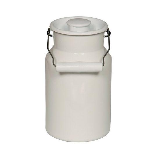 Riess Milchkanne »Milchkanne mit Deckel PASTELL, WEISS«, 1 l, Milchkanne