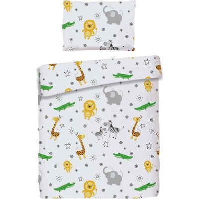 Bettwäsche »Kinderbettwäsche Dinos, Cretonne, grün, 100 x«, MyToys-COLLECTION