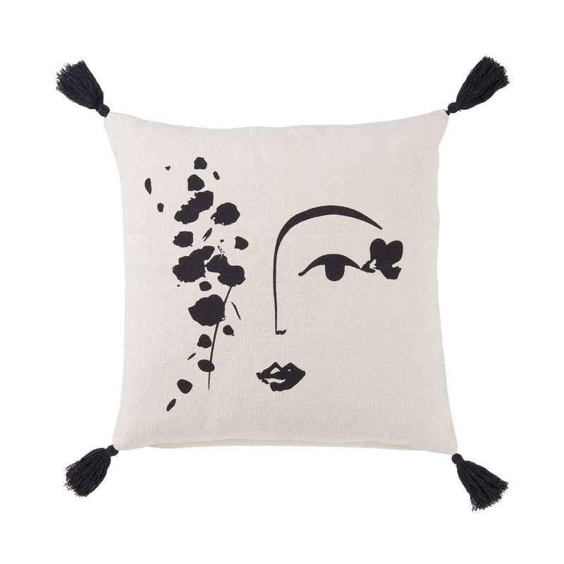BUTLERS Dekokissen »MUSE Kissen Line Art L 50 x B 50cm«