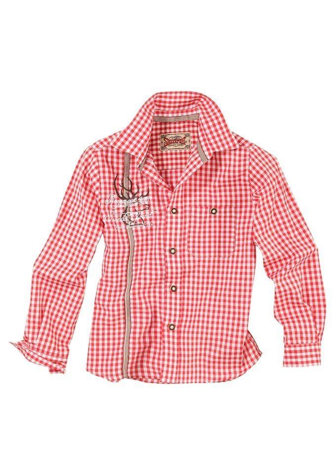 Herren,  Kinder Stockerpoint Trachtenhemd Kinder mit Stickerei  | 04250765567539