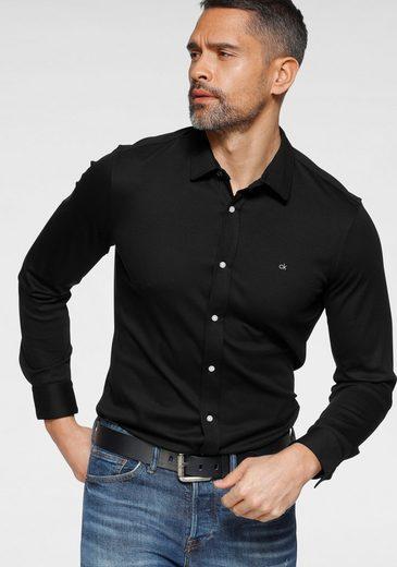 Calvin Klein Langarmhemd »SLIM FIT KNITTED SHIRT«