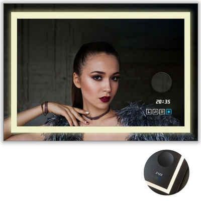 LuxNice Badspiegel »Cupido«, LED Spiegel mit Beleuchtung, Wandspiegel, 3 Farbtemperaturen, Schminkspiegel, Bluetooth-Lautsprecher, Touch-Funktion, Anti Beschlag, IP44
