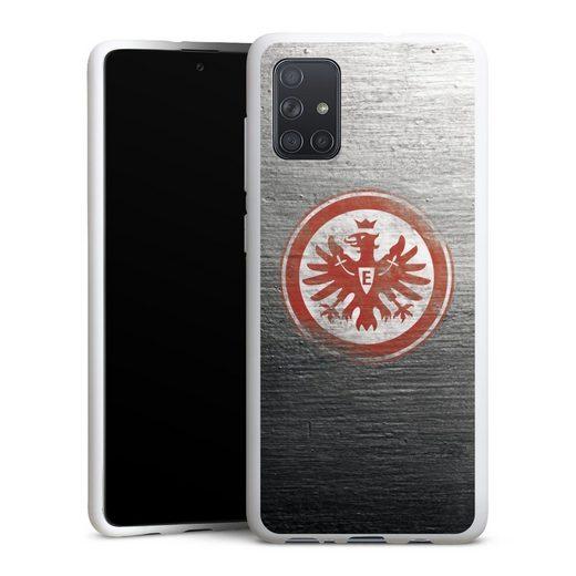 DeinDesign Handyhülle »Eintracht Logo Scratched« Samsung Galaxy A71, Hülle Eintracht Frankfurt SGE Logo