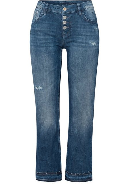 Hosen - BLUE FIRE Ankle Jeans »EMMA« Cropped flare mit offener Knopfleiste ›  - Onlineshop OTTO