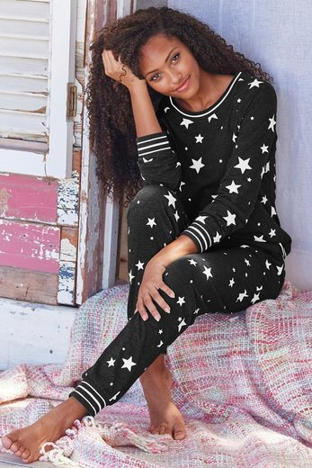 Vivance Dreams Pyjama mit Sternedruck