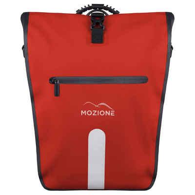 MOZIONE Gepäckträgertasche »mit Schultergurt, Tragegriff & 15 Zoll Laptopfach – Hinterradtasche als hochwertiges Fahrrad Zubehör«, Mit abnehmbarem Schulterriemen und Tragegriff, abnehmbare Laptop Fach, Motagepaket