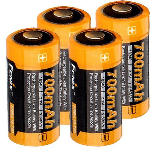 Fenix »4 Stück Li-ion Akku mit 3,7 Volt, min. 700mAh, typ« Akku