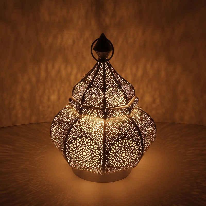 Casa Moro Bodenwindlicht »Orientalisches Windlicht Anida gold 30cm aus Metall, Marokkanische Laterne Gartenlaterne, hängend oder stehend, Schöne Tischlaterne für Hochzeit Feier Dekoration Weihnachten Geschenk, LN2060«, Als Leuchtmittel kann ein Teelicht, eine kleine Stumpenkerze oder eine Lichterkette verwendet werden