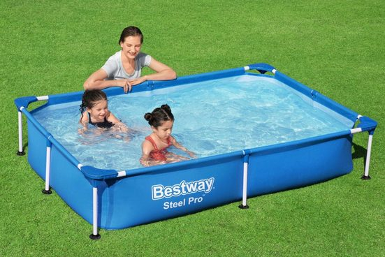 Bestway Rechteckpool »Steel Pro™ Frame«, für Kinder, BxLxH: 150x221x43 cm