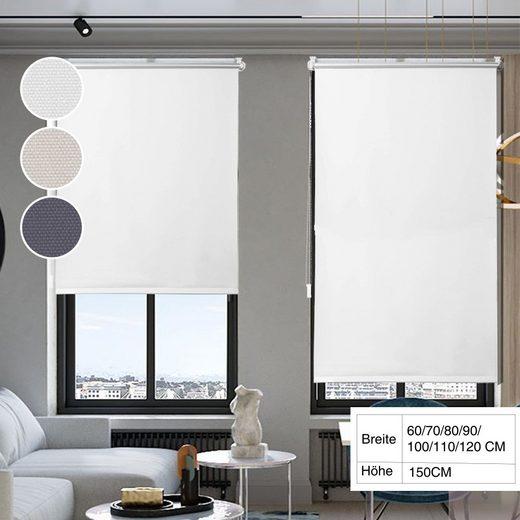Seitenzugrollo »Klemmfix-Thermo Rollo«, i@home, Lichtschutz, ohne Bohren, freihängend, Hitzeschutz
