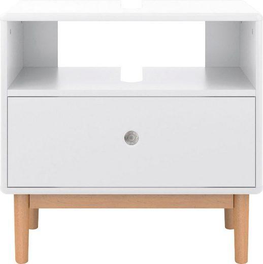 TOM TAILOR Waschbeckenunterschrank »COLOR BATH« mit 1 Schublade, mit Push-to-Open, mit Füßen in Eiche geölt, Breite 65 cm