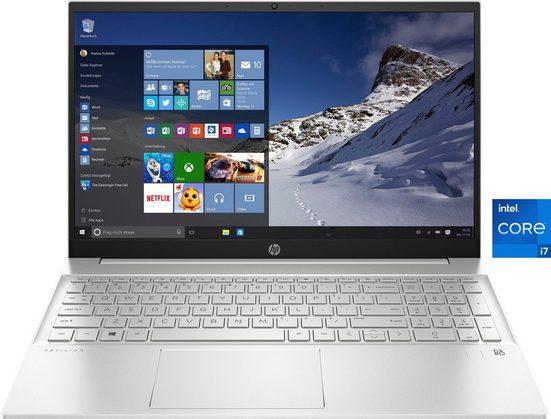 HP 15-eg0277ng Notebook (39,6 cm/15,6 Zoll, Intel Core i7, Iris© Xe Graphics, 1000 GB SSD)