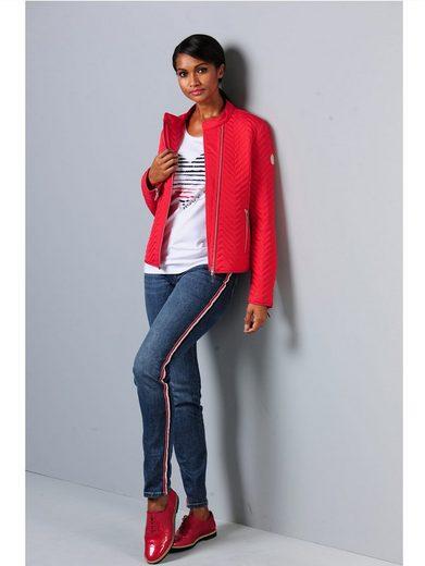 Alba Moda Jeans mit modischem Streifentape an der Außennaht