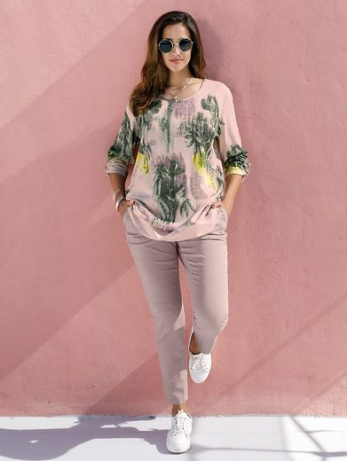 MIAMODA Pullover mit floralem Muster