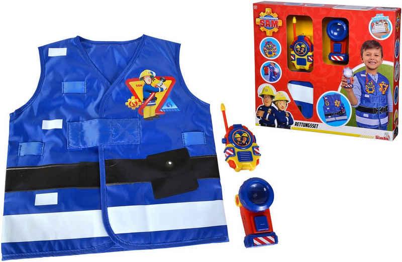 SIMBA Spielzeug-Schutzweste »Feuerwehrmann Sam, Feuerwehr Rettungsset«, (Set, 3-tlg), mit Taschenlampe und Walkie-Talkie