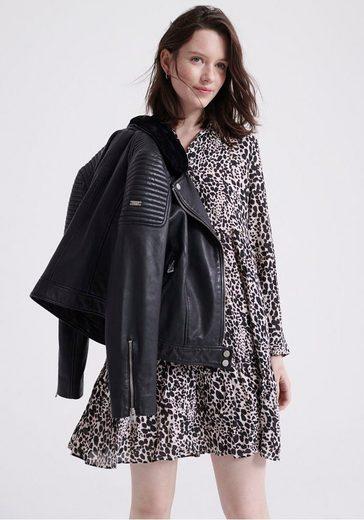 Superdry Blusenkleid »Scandi Shirt Dress« im Animal Print & leichten Oversized Schnitt