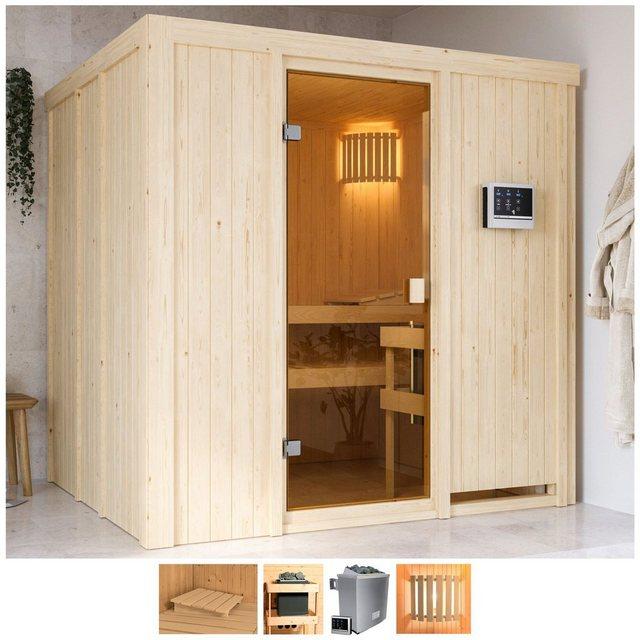 Saunen und Zubehör - Karibu Sauna »Gelsa«, BxTxH 196 x 178 x 198 cm, 68 mm, 4,5 kW Ofen mit ext. Steuerung  - Onlineshop OTTO