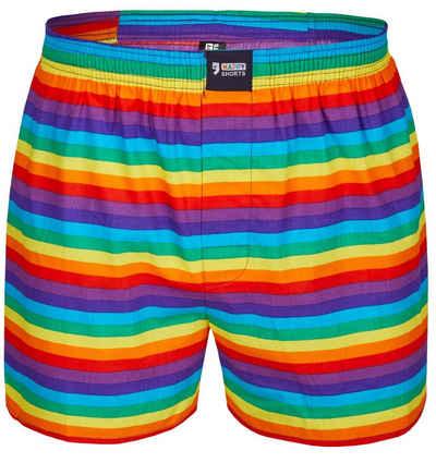 HAPPY SHORTS Boxershorts »Happy Shorts Herren american Boxer Boxershorts Shorts Webboxer Pride Stripes Streifen« (1 Stück)