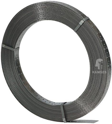 RAMSES Lochband, 40x1,5 mm Stahl sendzimirverzinkt 50 Meter Rolle