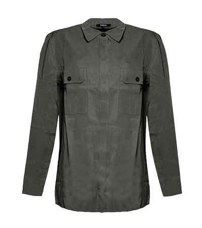 Mexx Blusentop »MEXX Bluse schlichtes Damen Blusen-Hemd mit Zierknöpfe Blusen-Shirt Khaki«