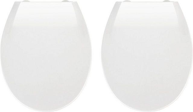 WCs und Zubehör - WENKO WC Sitz »Kos Weiß« (2 St), 2er Set, mit Absenkautomatik  - Onlineshop OTTO