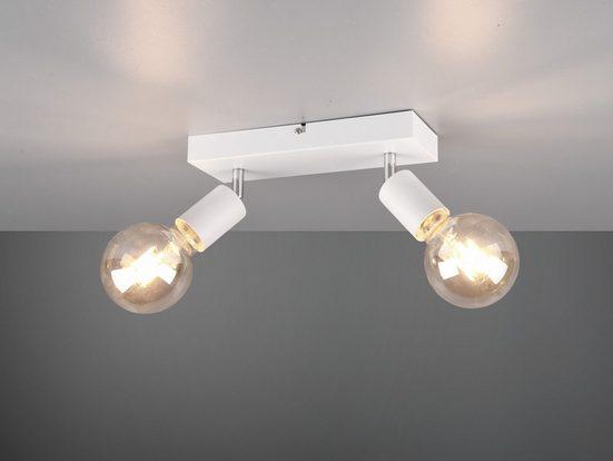 meineWunschleuchte LED Deckenstrahler, mehrflammige Balken-Leuchte, Designer Retro Decken-Lampe Industrie-Design, 2 flammig, Spots schwenkbar, Treppenhaus