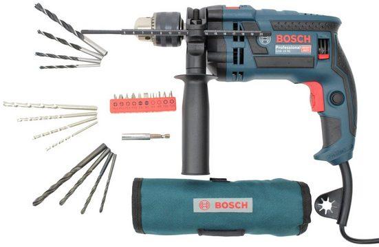 Bosch Professional Schlagbohrmaschine »GSB16 RE«, 230 V, (Set), 750W, mit Zubehör, Koffer und Gürteltasche