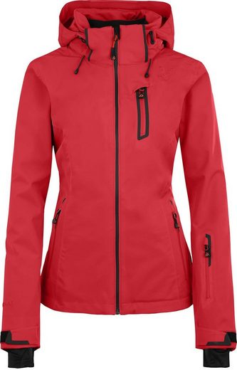 Bergson Skijacke »NICE light« unwattierte Damen Skijacke mit 20.000er Wassersäule, Kurzgrößen, poinsettia rot