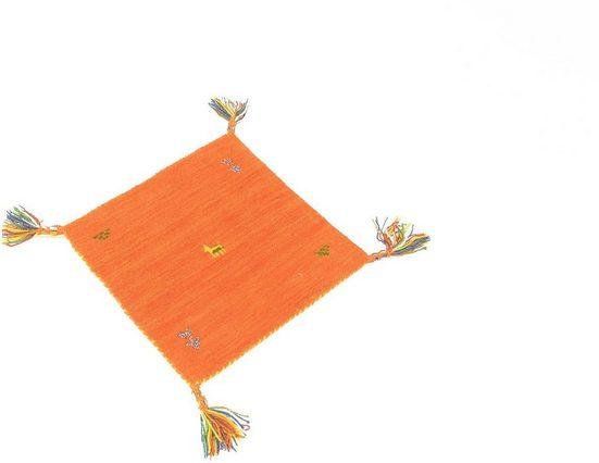 Wollteppich »Gabbeh Teppich Agra«, morgenland, quadratisch, Höhe 14 mm, Kurzflor
