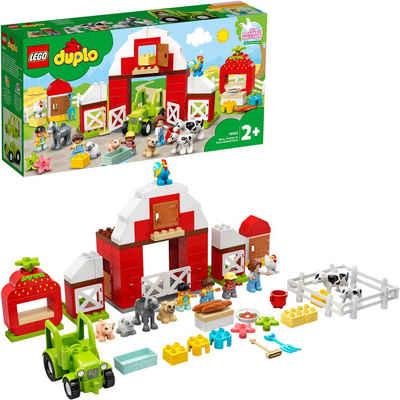 LEGO® Konstruktionsspielsteine »Scheune, Traktor und Tierpflege (10952), LEGO® DUPLO® Town«, (97 St), Made in Europe