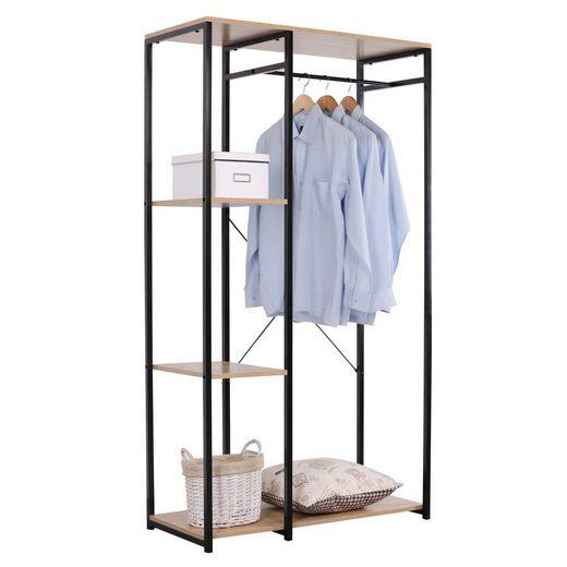 HTI-Line Kleiderschrank »Begehbarer Kleiderschrank Mona L« Pflegeleichte Oberflächen