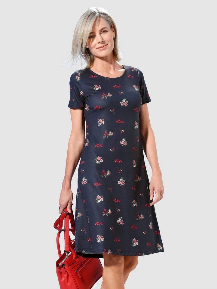 paola -  Jerseykleid Mit modischem floralen Druck