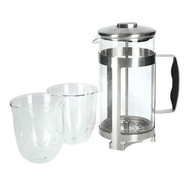 Neuetischkultur Teekanne »Kaffeebereiter Geschenkset 3-teilig La Cafetiere«, Kaffeebereiter