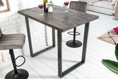 riess-ambiente Bartisch »IRON CRAFT 120cm grau«, Stehtisch · Massivholz · Industrial Design · Küche · Mangoholz